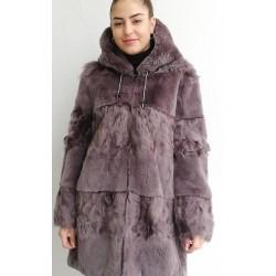 Chaquetón  Rex/Calgan con capucha Topo